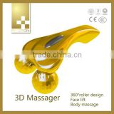 portable waterproof handhold beauty massage roller , 24 K Golden massger equipment
