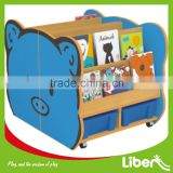 Fashion New Popular Pig Style Bookshelf Kids Wood Bookcase for Perfect Book Storage