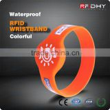 Printed Silicone Wristbands RFID IC Band for Cashless Payments