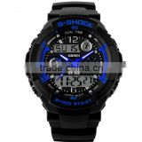 Outdoor Sport S-Shock Stainless Steel Back Water Resistant Watches Digital LED Quartz Electronic China Watch