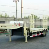 carbon steel tri axle flatbed truck and trailer (with front door optional) for Angola\Congo