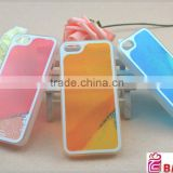 Liquid PC transparent mobile phone case ,new design hot selling glowing cell phone cover case