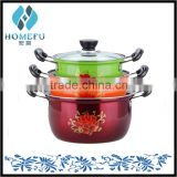 hot new products for 2015 color stainless steel non-stick cookware set as seen tv                                                                         Quality Choice