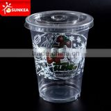 Supply disposable 8oz clear PET plastic cups, PET drinking cups, clear plastic cups with flat lids in China                                                                         Quality Choice