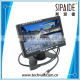 SPD76 7 Inch HD 800 x 480 Color TFT LCD Screen AV HDMI VGA Car Rear View Monitor