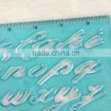 Factory Plastic Letter Stencil Ruler stencil duplicating ruler for education stationery plastic file clips