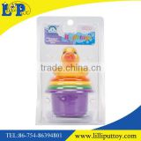 Cartoon duck baby folding cup bath toy