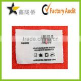 Factory customized high quality swimwear care label