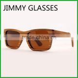JM457 Vintage China Wholesale Italy Design Brown Polarized FDA CE Cheap Wooden Sunglasses