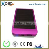 OEM Aluminum Amorphous silicon solar power bank for Mobile Phone