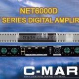 Professional audio C-mark Net6000D class D power amplifier module with DSP