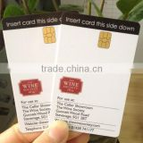 Rfid printable SLE5542 /SLE4442 contact IC card for Hotel or bar Factory supplier directly