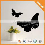 Famous reflective flying butterfly black board wall sticker