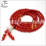 Chakra Jewelry Buddhist Prayer Mala Beads Tibetan Healing Stones Natural Red Agate Wrap Bracelet Necklace