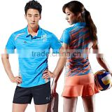 Women's Dri Fit Badminton Wear, Badminton Shirts + Shorts, Printed Badminton Clothing Set for Men