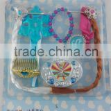 Cute kids jewelery set bracelet wig clip hair accessory set girls gift items