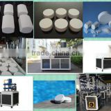CE certification factory supply swimming pool water treatment chlorine 200g tablet 90 tcca hydraulic tablet press machine