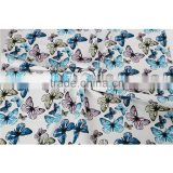 Beautiful butterfly design stretch polyester spandex custom print moss crepe knit fabric