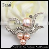 Pearl bijou jewelry in china freshwater pearl brooch