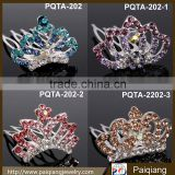 Fashion crystal jewelry delciate girls simple cheap rhinestone mini tiara