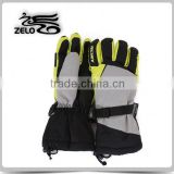 2015 men's ski gloves with adjustable wrist leather palm