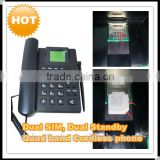 NEW dual sim card gsm cordless land phone with PSTN SMS radio 2G and 3G networks