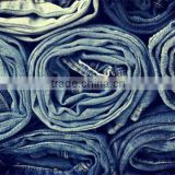 Fashion denim fabric yarn ; new creative wholesale jean jacket yarn ; polyester stretch denim yarn
