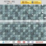 frosted glass mosaic marble tile 15x15 for bathroom wall and floor