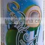 Coconut Water juice drink with Pulp tin can OEM 330ml