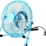 wholesale hot selling 6inch metal mini toy fan desk mini electric hand fan usb charge mini fan