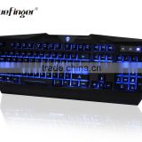 Red Blue Purple colored Backlit LED Wired Gaming Keyboard for Laptop Desktop