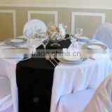 facotry sell table cover with satin table runner