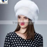 TD1006 Luxurious Fashion Style Top Quality Pelt Mink Fur and Fox Material Winter Hat For Women