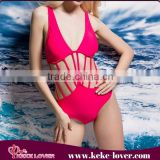 2015 summer hot selling women bandage bikini sexy padded bikini set one piece swimsuit wholesale brazilian fashion pink bikini