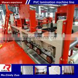 professional design gypsum ceiling board production line manufacturer/pvc laminated gypsum tiles production line