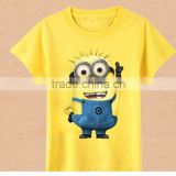 Hot New 2016 Cartoon Baby T shirts Anime Figure Despicable Minions Clothes Costume Child Clothing Girls T- shirts Free Shipping