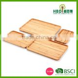 China suppliers bamboo wooden food plate,home decoration rectangle dinner plate,hotel used dinner plates wholesale