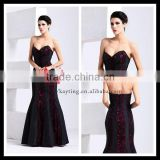 Fashion sweetheart off shoulder formal evening dress beautiful red wedding dresses for guest