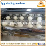 Boiled Quail Eggs Shell Breaking Machine , Cooked quail chicken egg shelling machine