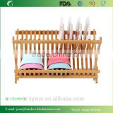 Bamboo Folding Dish Rack Dish Drying Rack Holder Utensil Drainer