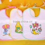 wholesale drool bibs hot selling in 2015 cotton baby bib factory price plain terry baby bib