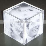 clear Acrylic cube Photo Frame,picture frame