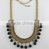 Temperament black pearl gold necklace