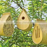 New Arrival Bamboo Habitat Collection Hanging Bee House Butterfly House Bird House Set of 3 Catering for USA market