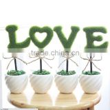 4 Artificial Potted LOVE Topiary Plant in Ceramic Pot Home Decor