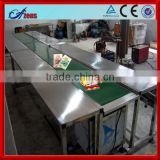 Stainless steel pipe roller conveyor system manual roller conveyor conveyor belt production line