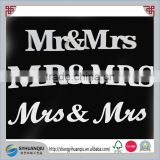 1 Set Solid Mr & Mrs Wooden Letters for Wedding Decoration Sign Top Table Decor