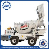 Automatic feeding mixers mobile concrete mixer truck HWJB400