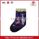 Purple full printing christmas socks