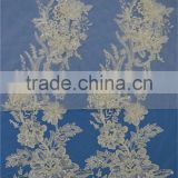 Cheap price pearls sequin beaded import lace fabric for wedding dress